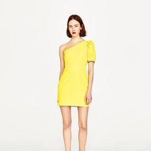Zara One Shoulder Dress Small